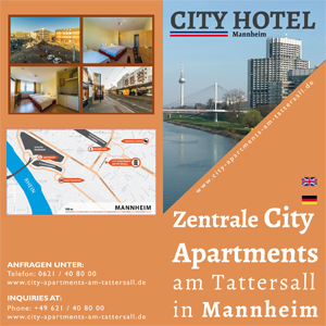 Factsheet Zentrale City Apartments am Tattersall in Mannheim